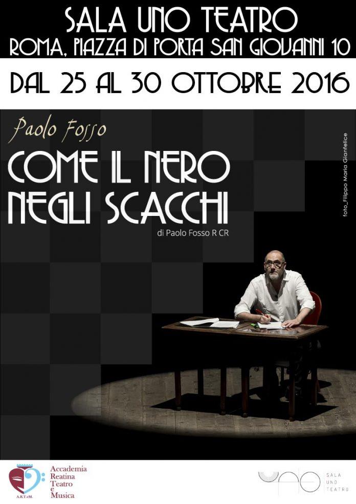 Locandina web - Come il nero negli scacchi - Paolo Fosso