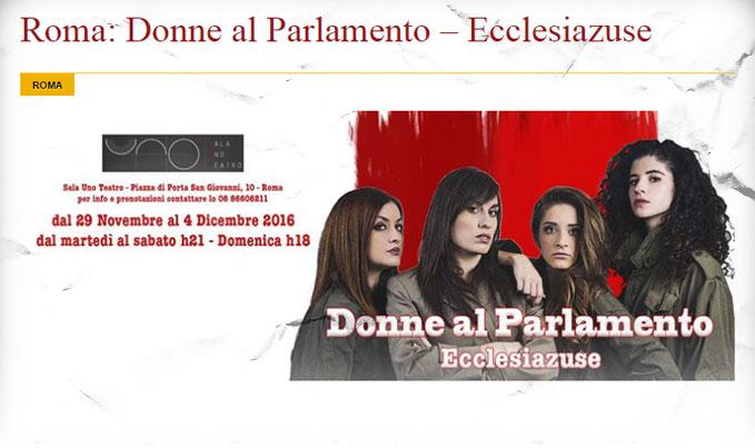 Ecclesiazuse Donne al Parlamento. Spettacoli-teatro